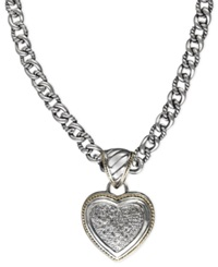 Effy Collection Balissima By Effy Diamond Pave Heart Pendant 1 3 Ct. T.W. In 18K Gold And Sterling Silver