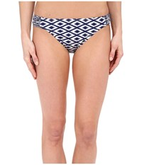Sperry Island Time Ikat Scrunch Hipster Midnight Women's Swimwear Navy