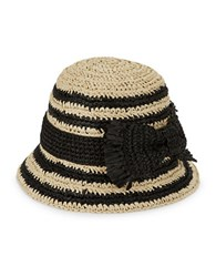 Kate Spade Two Tone Bucket Hat Black Natural