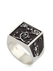Meadowlark Death By Work Oxidized Chevalier Ring