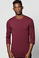 Boohoo Sleeve Extreme Muscle Fit Tshirt Wine