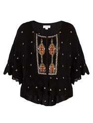 Velvet By Graham And Spencer Alisdair Embellished Top Black