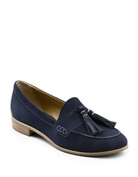 G.H. Bass Estelle Leather Loafers Navy Blue