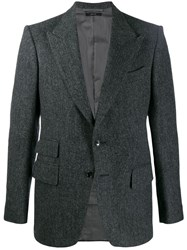 Tom Ford Herringbone Blazer Grey