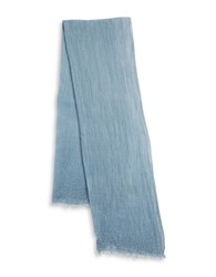 Lord And Taylor Tonal Jeweled Scarf Blue