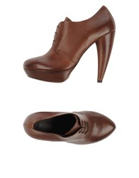 Vic Matie Vic Matie' Footwear Lace Up Shoes Women Cocoa