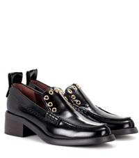 See By Chloe Leather Loafers Black