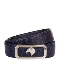 Stefano Ricci Eagle Buckle Belt Unisex Navy