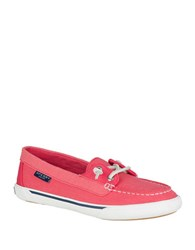 Sperry Quest Rhythm Lace Up Canvas Loafers Coral