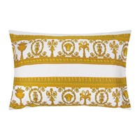 Versace Barocco And Robe King Size Pillowcase Pair White Gold