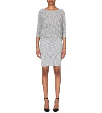 Reiss Sabra Space Dye Knitted Dress Grey Blue
