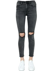 Frame Le High Skinny Ripped Denim Jeans