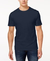 Club Room Men's Performance T Shirt Created For Macy's Navy Blue