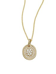 Kc Designs Diamond And 14K Yellow Gold Oval Pendant Necklace