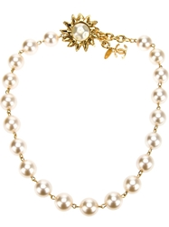 Chanel Vintage Pearl Beaded Necklace White