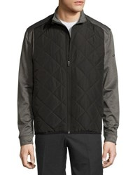 Callaway Quilted Zip Front Jacket Gray