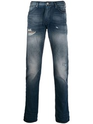 Emporio Armani Distressed Jeans Blue