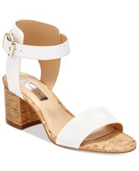 Inc International Concepts Women's Hallena Block Heel Dress Sandals Only At Macy's Women's Shoes Bright White