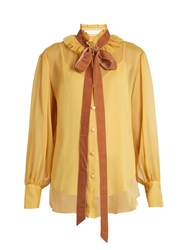See By Chloe Crinkled Georgette Blouse Yellow