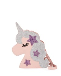 Hannah Banana Girls' Faux Leather Glittered Unicorn Crossbody Bag Multi