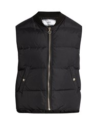 Ami Alexandre Mattiussi Ribbed Neck Quilted Gilet Black