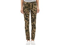 Chip Foster Women's Hand Painted Camouflage Print Trousers Green