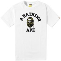 A Bathing Ape 1St Camo College Tee White
