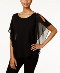 Msk Cold Shoulder Batwing Blouse Black