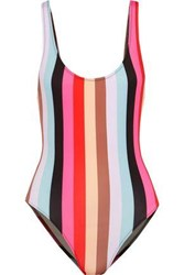 Solid And Striped The Anne Marie Neon Swimsuit Multicolor