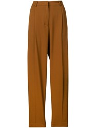 Mauro Grifoni Straight Leg Trousers Brown