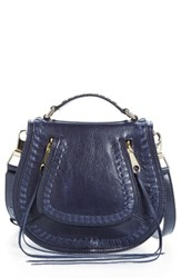 Rebecca Minkoff Small Vanity Leather Saddle Bag Blue Moon Light Gold