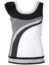 No Ka' Oi Asymmetric Frill Sports Tank Top Women Polyamide Spandex Elastane L White