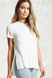 Forever 21 Ribbed Knit High Low Tee