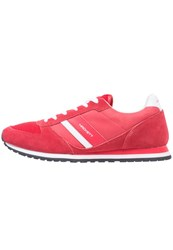 Hackett London Pembrook Trainers Red