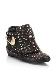Ivy Kirzhner Adobee Studded Leather Moccasin Booties Black