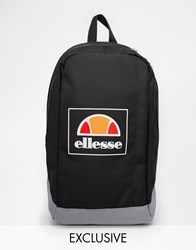 Ellesse Box Logo Backpack Exclusive To Asos Black