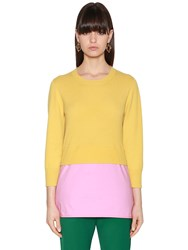 Marni Layered Knit And Poplin Sweater