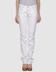 Wesc Denim Denim Trousers Women White