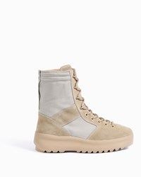Yeezy Men S Mixed Fabric Military Boots Boutique1 Grey