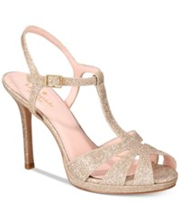 Kate Spade New York Feodora Glitter Dress Sandals Women's Shoes Gold