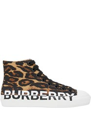 Burberry Leopard Print Hi Top Sneakers 60