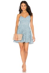 J.O.A. Fit And Flare Dress Blue