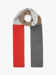 John Lewis And Partners Colour Block Cashmere Scarf Multi