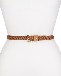 Cole Haan Braided Leather Belt Natural