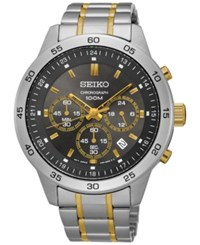 Seiko Men's Chronograph Special Value Two Tone Stainless Steel Bracelet Watch 44Mm Sks525 No Color