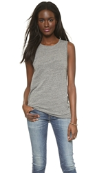 Ag Jeans Float Sleeveless Tee Heather Grey