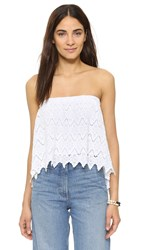 Young Fabulous And Broke Diamond Lace Top White