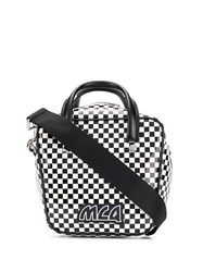 Mcq By Alexander Mcqueen Checkered Tote Bag Black