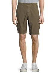 Lucky Brand Stretch Sateen Cargo Shorts Charcoal