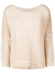 Mes Demoiselles 'Ruffle' Knitted Top Nude And Neutrals